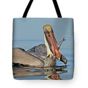 Pelican With Catch Tote Bag