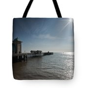 Penarth Pier Sun Tote Bag
