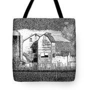 Pencil Sketch Barn Tote Bag