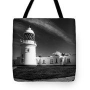 Pendeen Lighthouse Mono Tote Bag