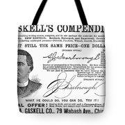 Penmanship Ad, 1887 Tote Bag