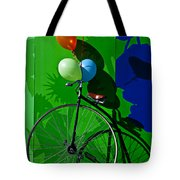 Penny Farthing And Balloons Tote Bag by Garry Gay