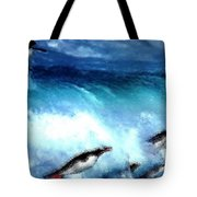 Penquin Play Tote Bag
