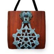 Pentagram Knocker Tote Bag by Fabrizio Troiani