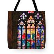 Pentecost Window - St. Vitus Cathedral Prague Tote Bag