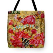 Peony Flower Painting - Be Fearless Tote Bag
