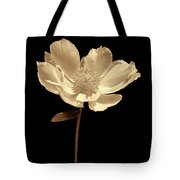 Peony Flower Portrait Sepia Tote Bag