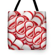 Peppermint Ribbon Candy Tote Bag