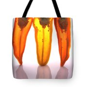 Peppers In Half Tote Bag