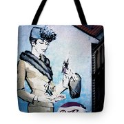 Pepsi Is Here - Pepsi Cola Ad In Prague Cz Tote Bag by Christine Till