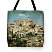 Perched Village Of Gordes Tote Bag