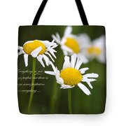 Perfection In The World Tote Bag