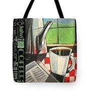 Perk Coffee Languages Poster Tote Bag