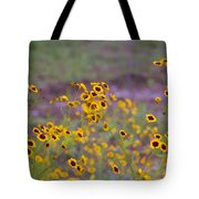 Perky Golden Coreopsis Wildflowers Tote Bag