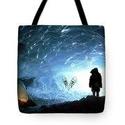 Person In Ice Cave, Appa Glacier Tote Bag