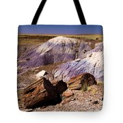 Petrified Logs In The Badlands Tote Bag