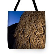 Petroglyphs Are Seen At Twilight Tote Bag