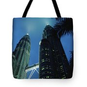 Petronas, Twin Towers At Night, Low Tote Bag