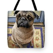 Hungry Pug Tote Bag