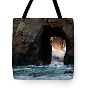 Pfeiffer Rock Big Sur Tote Bag by Bob Christopher