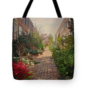 Philadelphia Courtyard - Symphony Of Springtime Gardens Tote Bag by Mother Nature