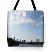 Philadelphia From Kelly Drive Tote Bag