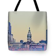 Philadelphia From South Camden Tote Bag by Bill Cannon