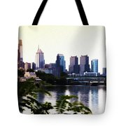 Philadelphia From The Banks Of The Schuylkill River Tote Bag
