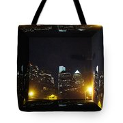Philadelphia Skyline At Night - Mirror Box Tote Bag