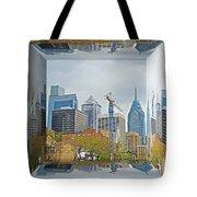 Philadelphia Skyline - Mirror Box Tote Bag