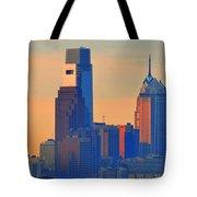 Philadelphia Sunrise Tote Bag by Bill Cannon
