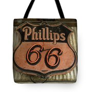 Phillips 66 Vintage Sign Tote Bag
