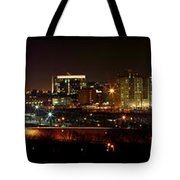 Philly Night Panoramic Tote Bag