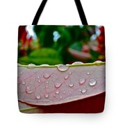 Photinia Veins Tote Bag