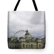 Photo Of London With London Eye In The Background Tote Bag