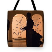 Photographers In Silhouette At A Heritage Building In Rajasthan In India Tote Bag