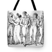 Phrenology, 19th Century. /nreading Skulls. Line Engraving, Early 19th Century Tote Bag