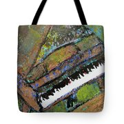 Piano Aqua Wall - Cropped Tote Bag by Anita Burgermeister