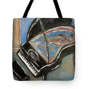 Piano With Spiky Heel Tote Bag