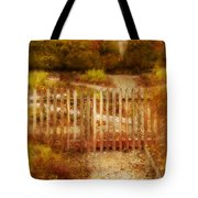 Picket Fence And Cottage Tote Bag