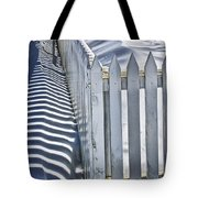Picket Fence In Winter Tote Bag