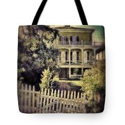 Picket Gate To Large House Tote Bag