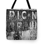 Picnic Ground Monochrome Tote Bag