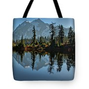 Picture Lake - Heather Meadows Landscape In Autumn Art Prints Tote Bag