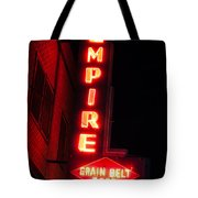 Picture Of Empire Tavern And Liquors Sign Fargo Nd Tote Bag