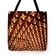 Picture Of Theater Marquee Lights Tote Bag by Paul Velgos