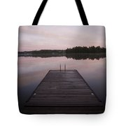 Pier, Lake Of The Woods, Ontario, Canada Tote Bag