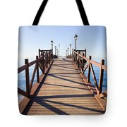 Pier On Costa Del Sol In Marbella Tote Bag