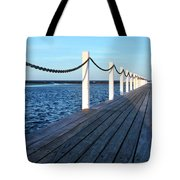 Pier To The Ocean Tote Bag
