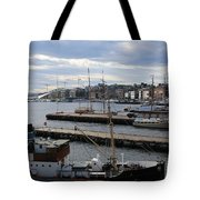 Piers Of Oslo Harbor Tote Bag